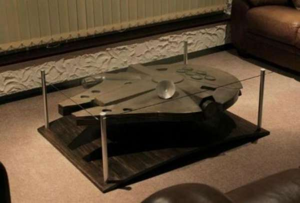 sci fi spaceship coffee tables millennium falcon coffee