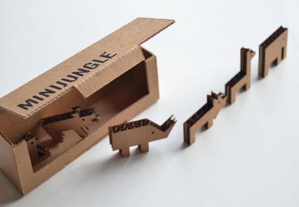 Cardboard Zoo Playsets