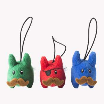 Dapper Mustached Bunnies