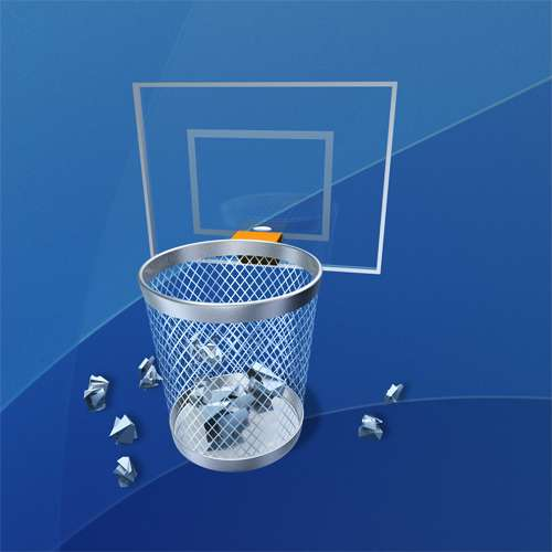 Trashcans with backboards move to trash turns office wastebin into an action game move to - Garbage can basketball hoop ...