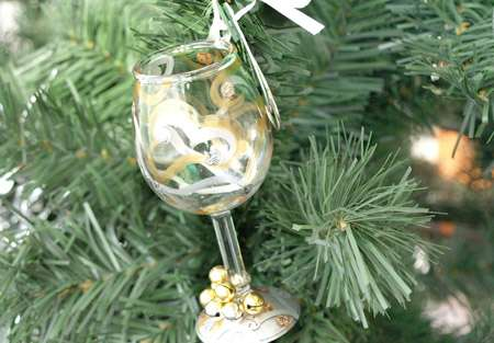 mini wine ornament collection