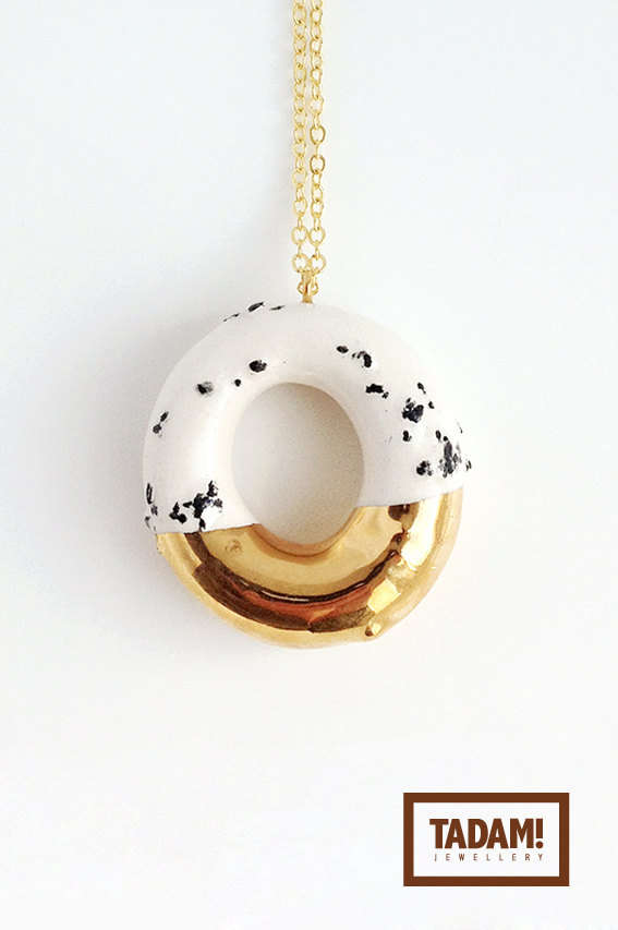 Metal-Dipped Doughnut Jewelry