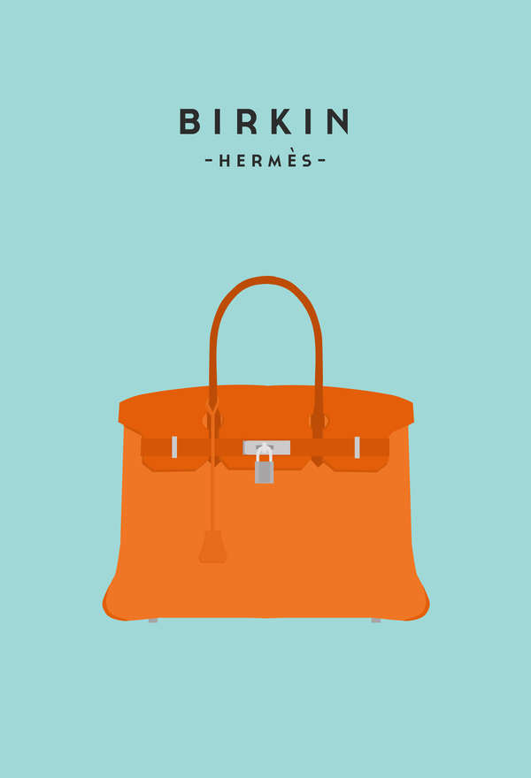 minimal handbags illustrations fashion