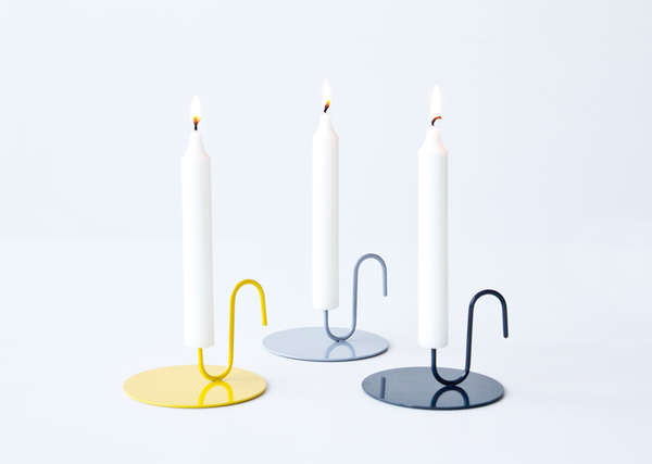 minimalist candle holders