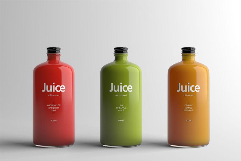 Minimalist Juice Branding