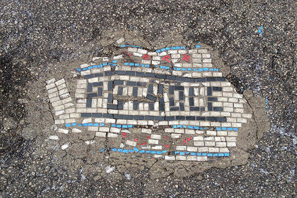 Urban Pothole Art
