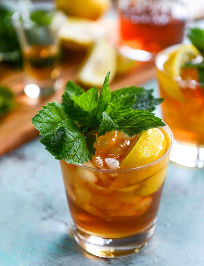 Minty Tea Cocktails