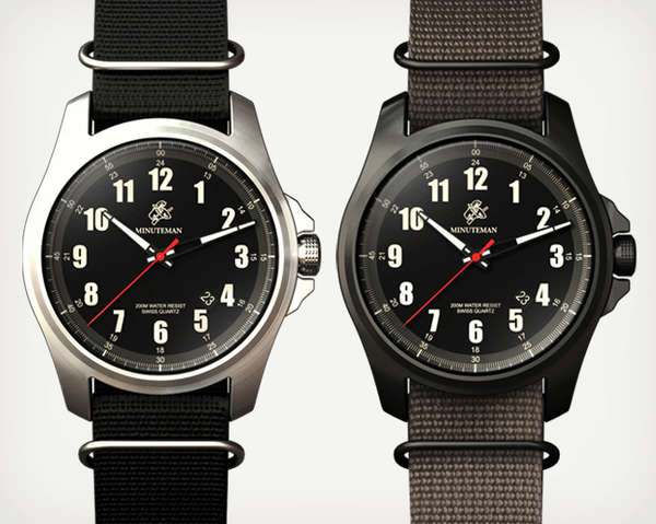 Patriotically Supportive Timepieces