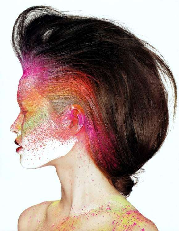 Paint Splattered Beauty Editorials