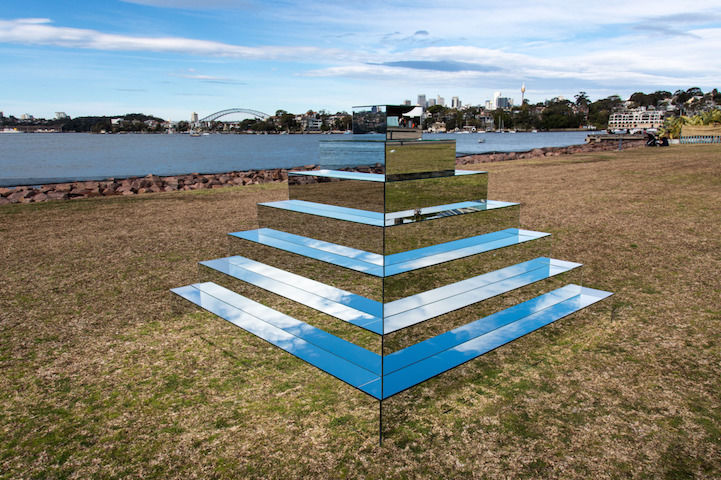 Mirrored Staircase Sculptures