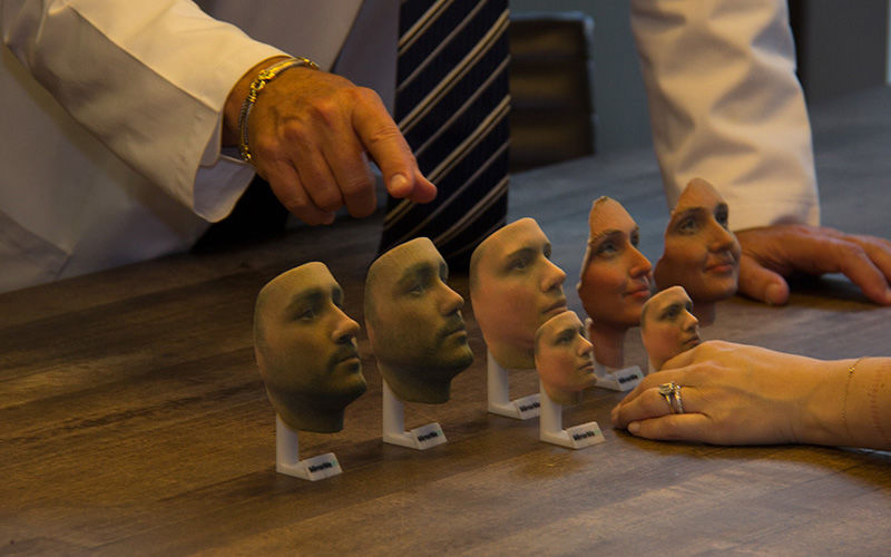 Replica 3D-Printed Faces