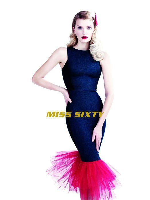 Elegant Denim Fashion Ads