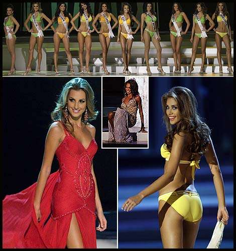Falling at Miss Universe