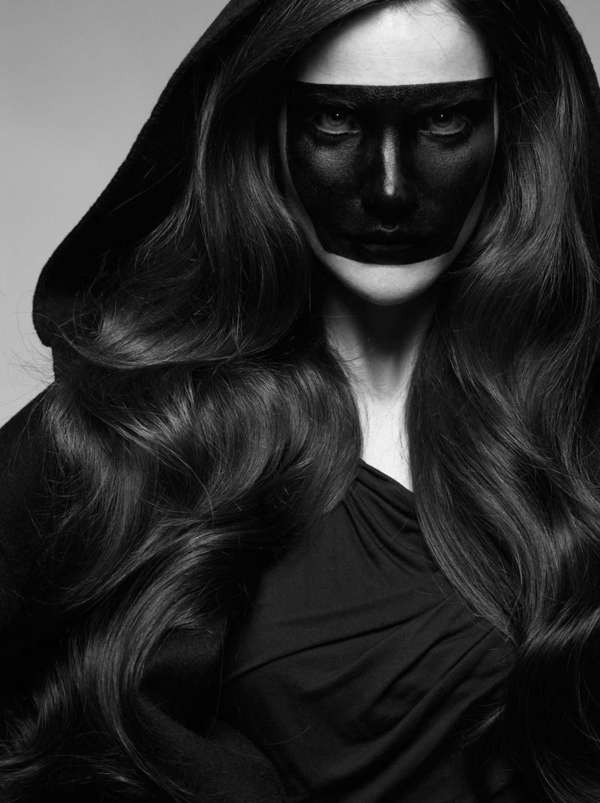 Freaky Black-Out Fashion Shoots