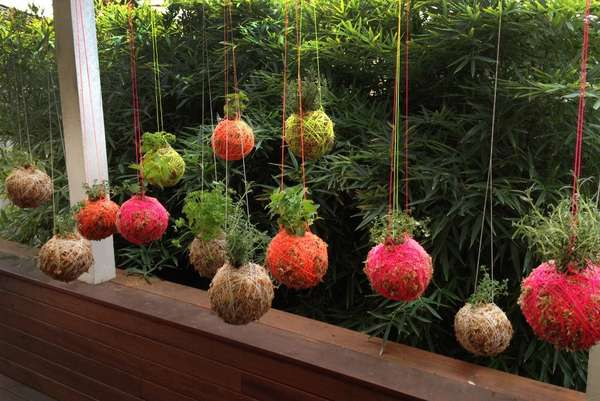Yarn Ball Hanging Plants