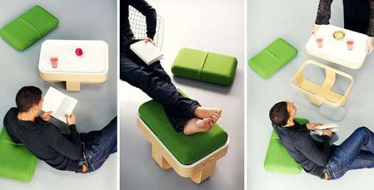 Unobtrusive Versatile Furniture
