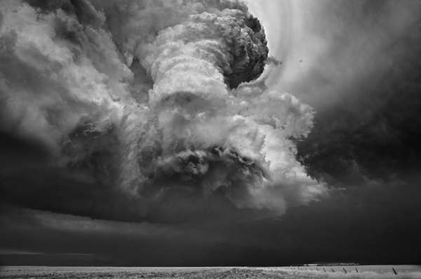 Grayscale Storm Photography