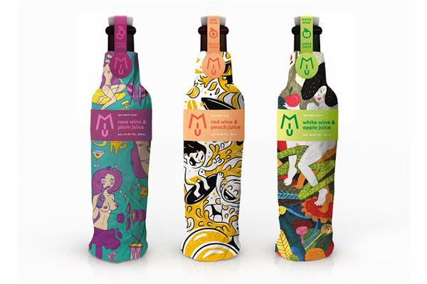 MIU Fruit Wine packaging