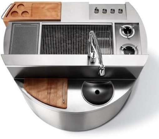 Compact Kitchens All In One: Luxe Grilling Gear: Mobile Cooking Design's 'Cheope' All