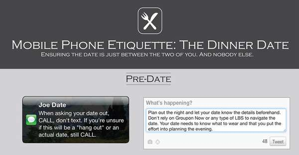 Mobile Phone Etiquette the Dinner Date