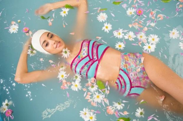 Floating Floral Swimwear