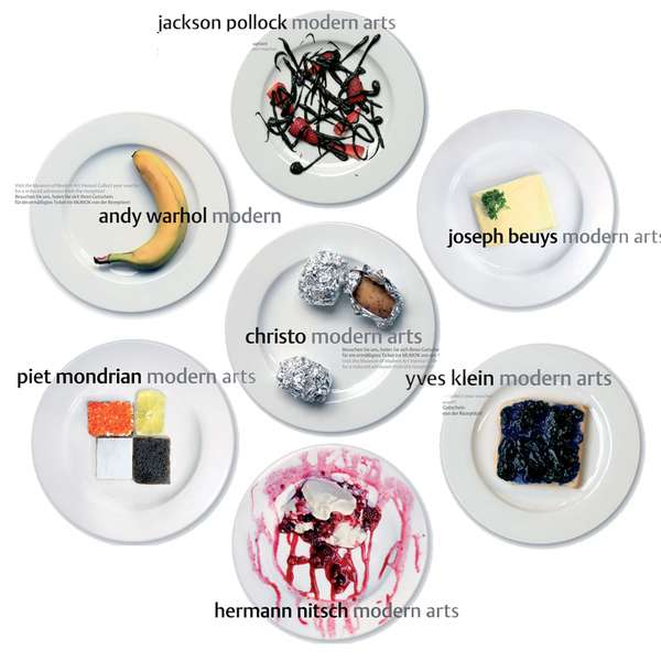 Modern Artists as Gourmet Dishes