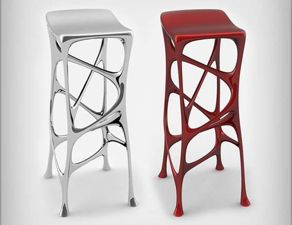 Liquid metal seating modern bar stools stolworthy - Chaise bar metal ...