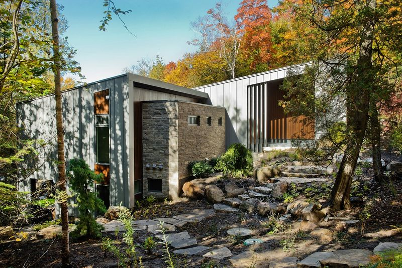 Sloping Lakefront Chalets