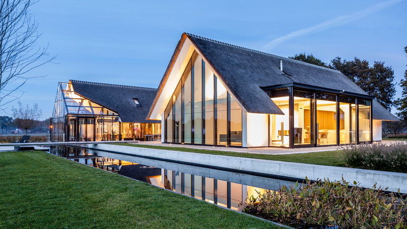 Merged Greenhouse Cottages Modern Countryside Villa