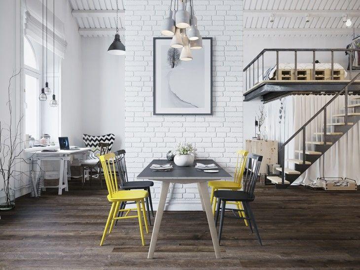 Charming industrial lofts modern ikea furniture - Casas bien decoradas ...