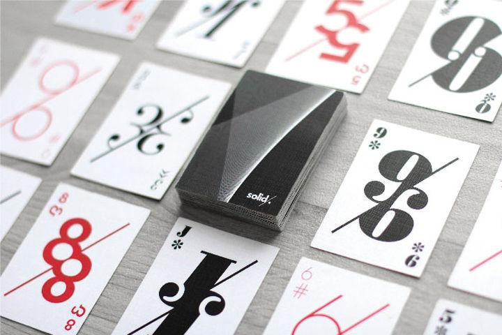 Modern playing cards designs