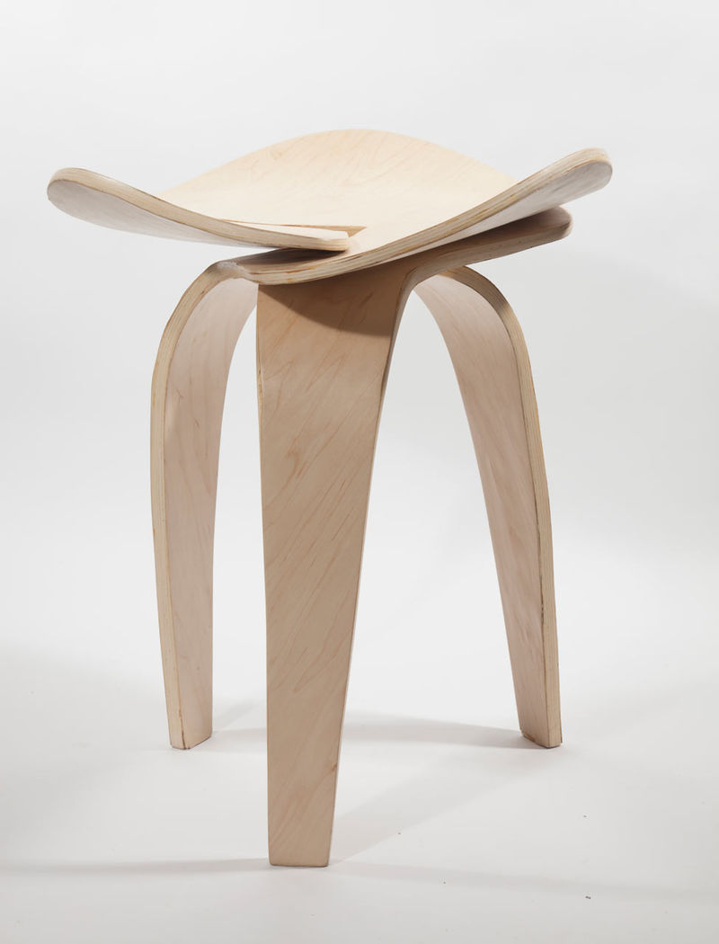 Fluid modern stools modern stool for Modern designer stools