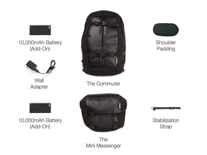 Modular Device-Charging Bags
