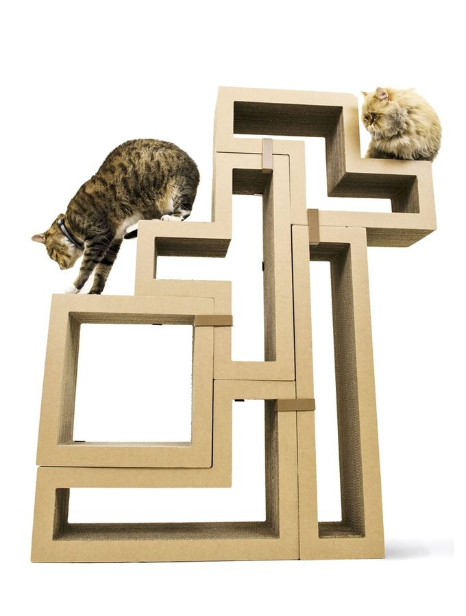 Geometric cat scratchers modular cat furniture - Contemporary cat furniture ideas ...