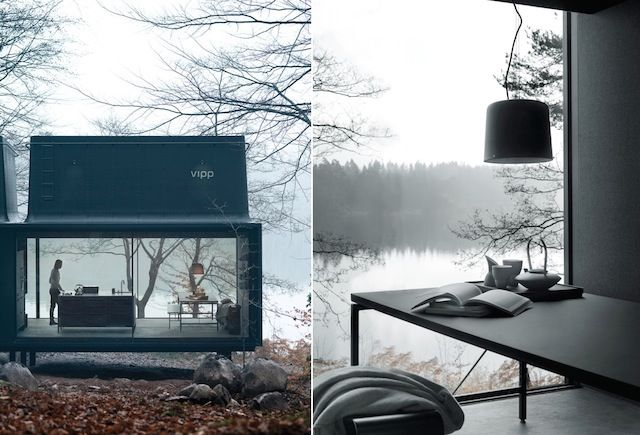 Compact Glass Cabins