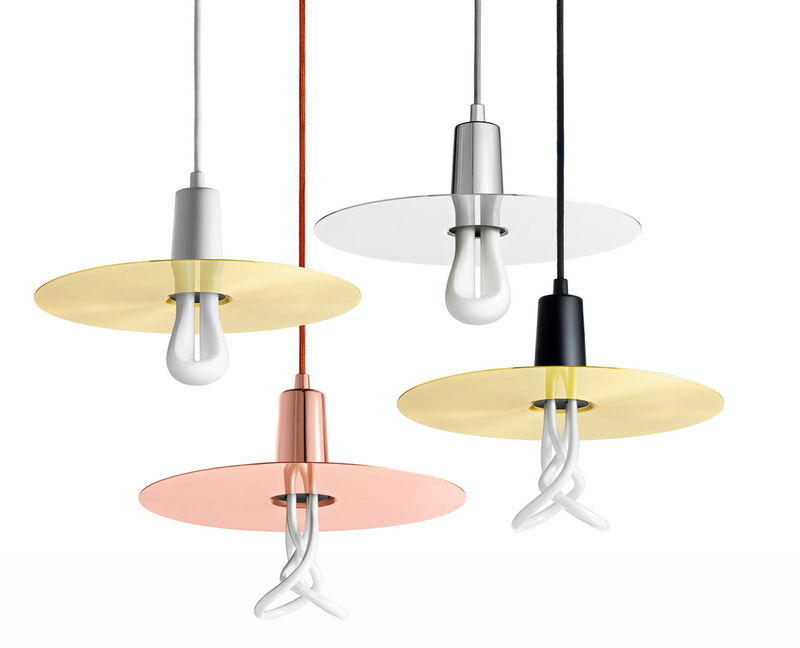 Reflective Disc Lamp Shades