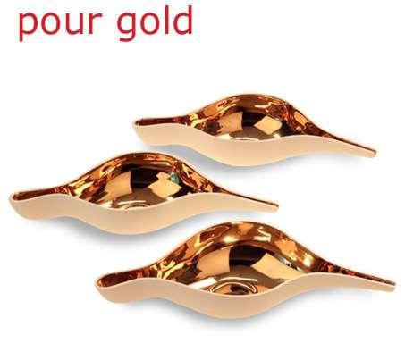 Gold-Plated Porcelain