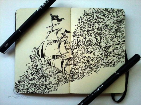 Meticulous World-Infused Doodles