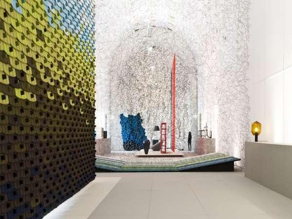 Texture-Enriched Textile Exhibits