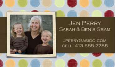 mommy cards business cards