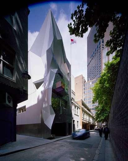 Geometric Glacier Buildings