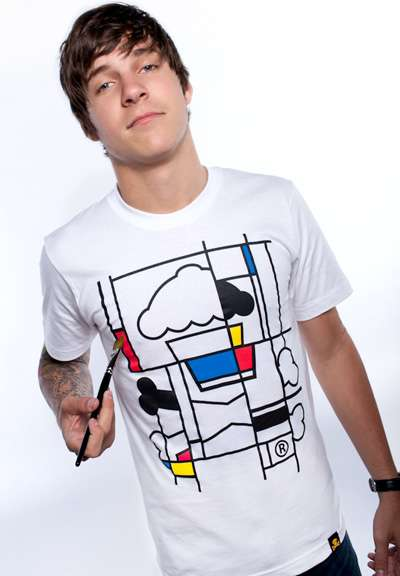 mondrian and lichtenstein cupcake tees