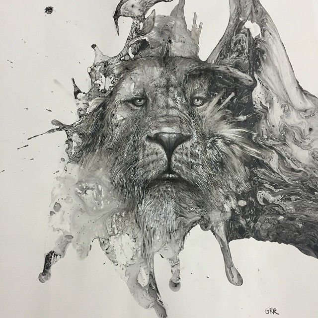 Monochromatic Ink Illustrations