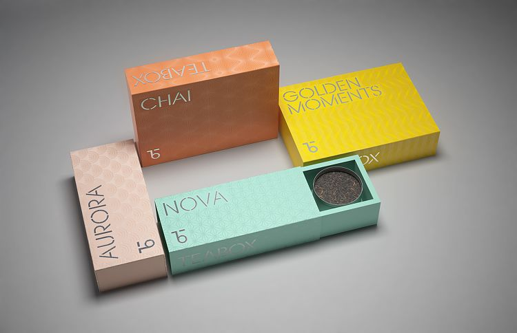 Monogrammed Tea Packaging