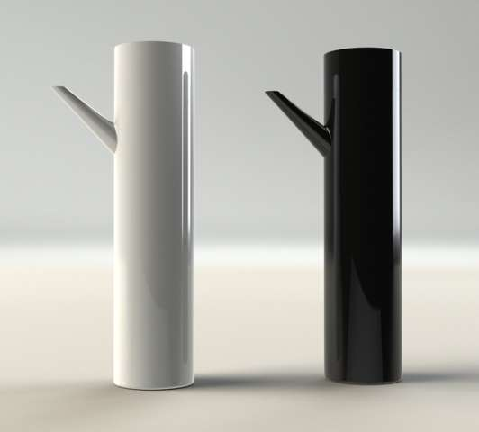 Sleek Cylindrical Teapots