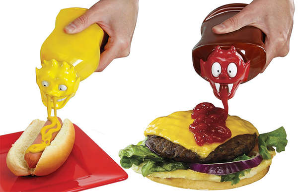 Monster-Shaped Condiment Caps
