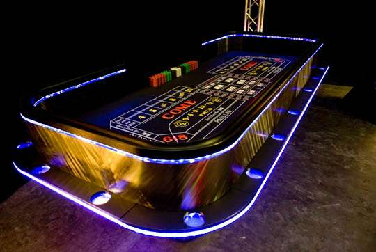 Illuminated Gambling Stands