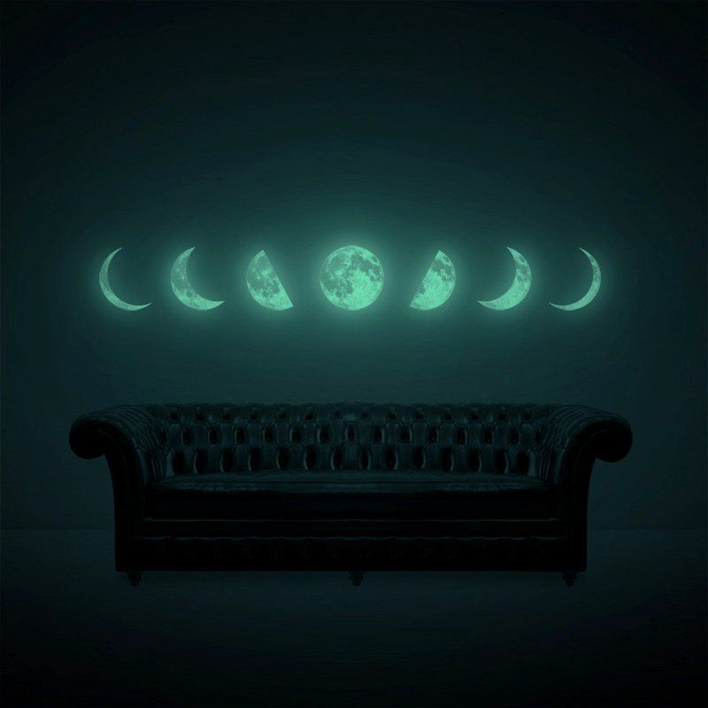 Glowing Lunar Decals Moon Phase