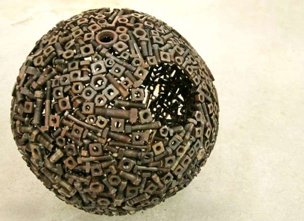 Recycled 3D Sphere Art