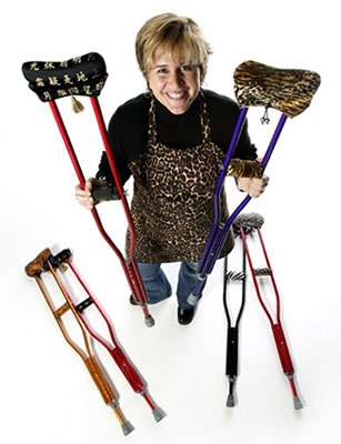Fashion Crutches With Matching Bags